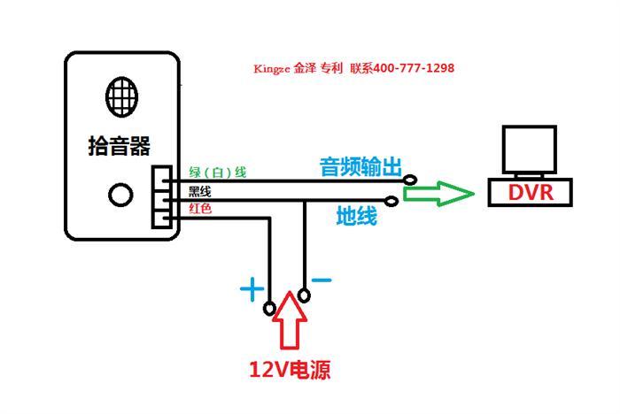 监控拾音器如何接线安装