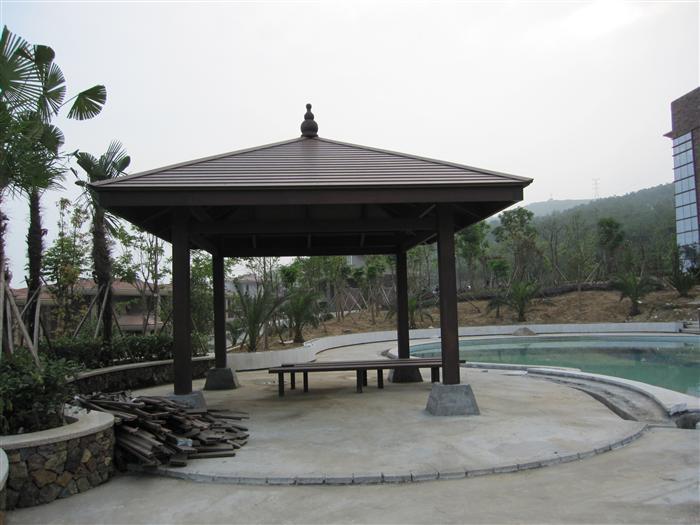 陕西凉亭,西安宝鸡渭南铜川榆林延安汉中塑木凉亭厂家在哪?