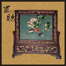 锦玛绣蜀锦蜀绣 深圳礼品展2011年4月