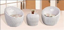 圆形座椅-纯藤制午休躺椅,款式简单