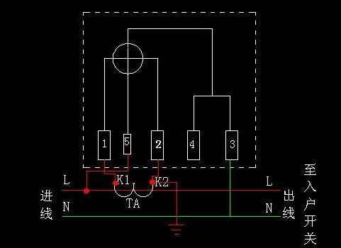 单相互感式电表接线图解析图片