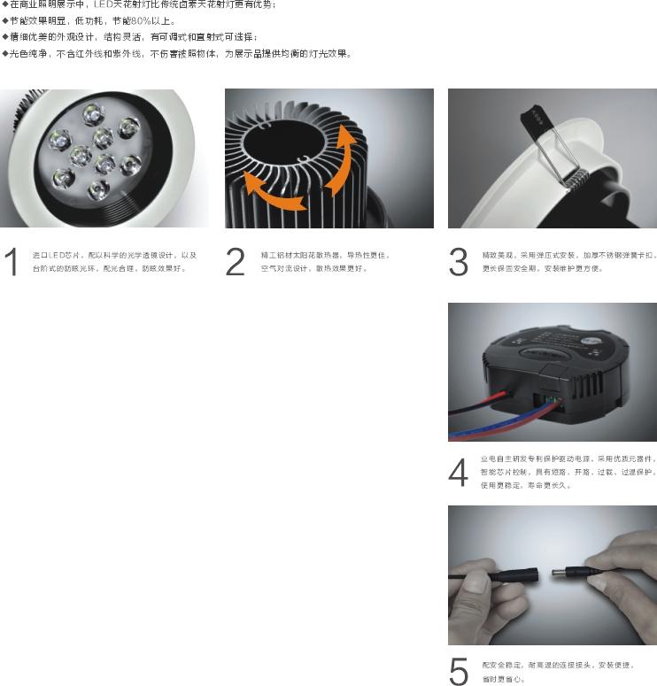 LED天花射燈(黑天鵝系列)圖片