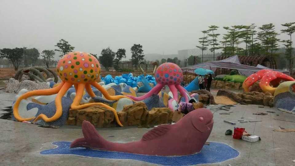 广州市儿童公园儿童戏水雕塑带工程