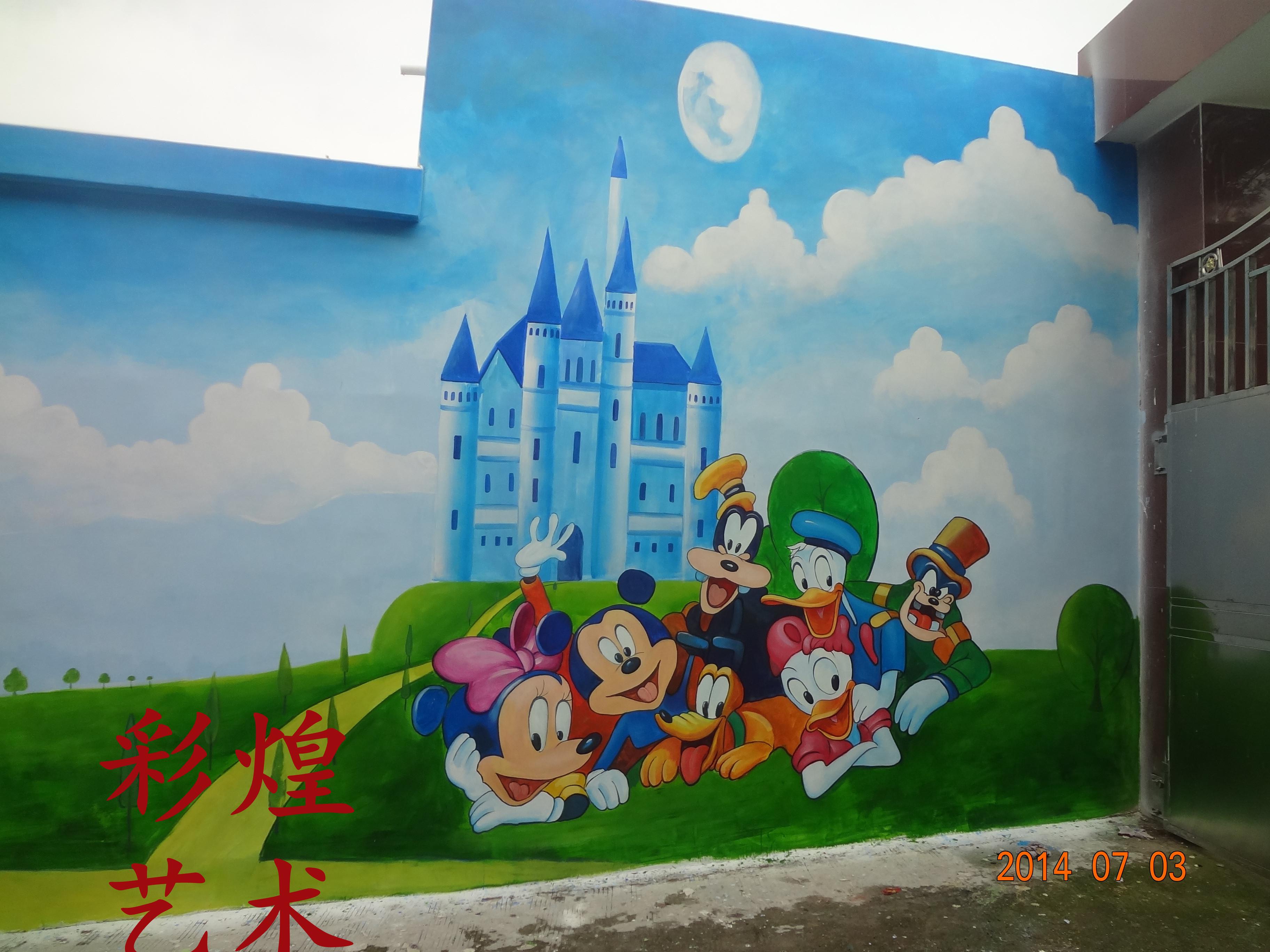 贵阳幼儿园手绘墙画卡通漫画墙体彩绘设计制作现场绘制涂鸦壁画