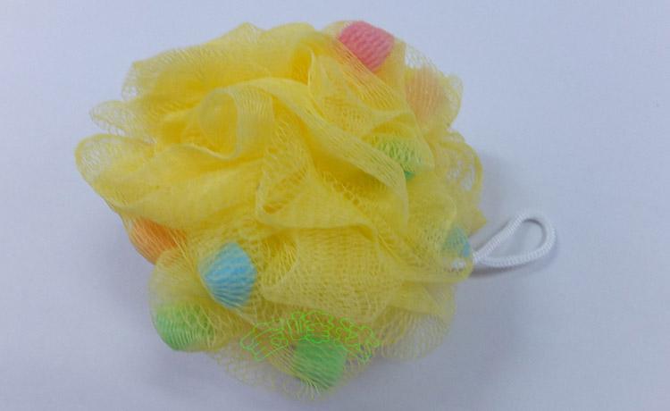 黄颜色海绵浴球