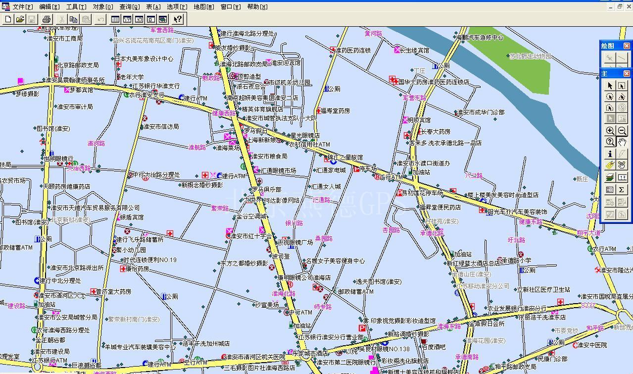 淮安市_产品展示_gps电子地图_gis电子地图_mapinfo