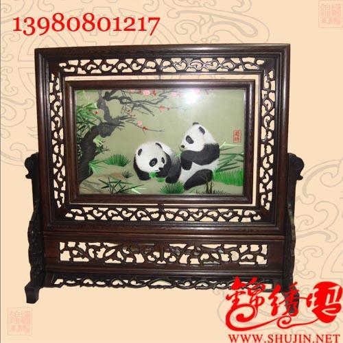 十刺绣的价格 梅花熊猫 蜀绣,刺绣,成都特色礼品,四川旅游纪