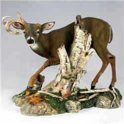 仿真动物鹿 带底座树脂工艺品