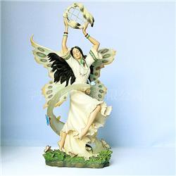 广州厂家加工树脂工艺品 欧式人物天使摆件