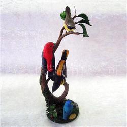 树脂工艺品 装饰摆件 仿真鸟 仿真树枝