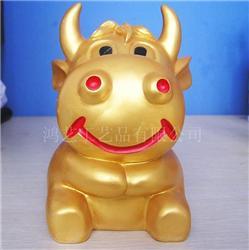 树脂工艺品  喷漆金牛存钱罐