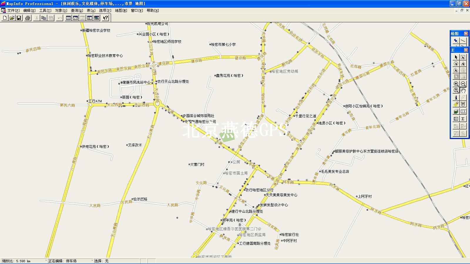 哈密市电子地图; 带经纬度中国地图;