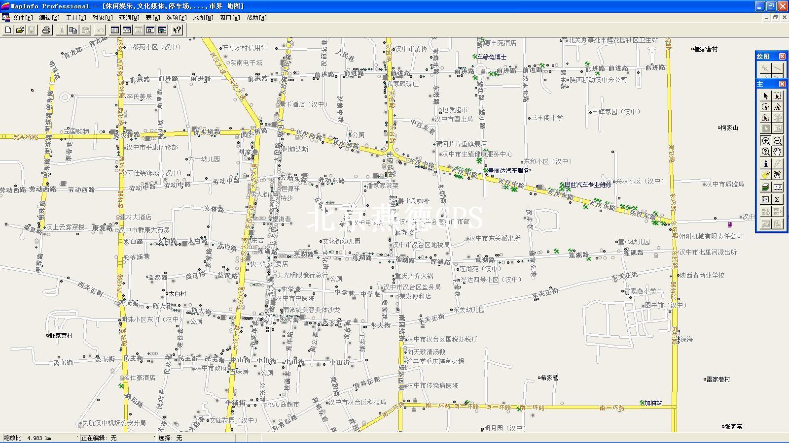 汉中市汉台区地图; 陕西汉中地图;
