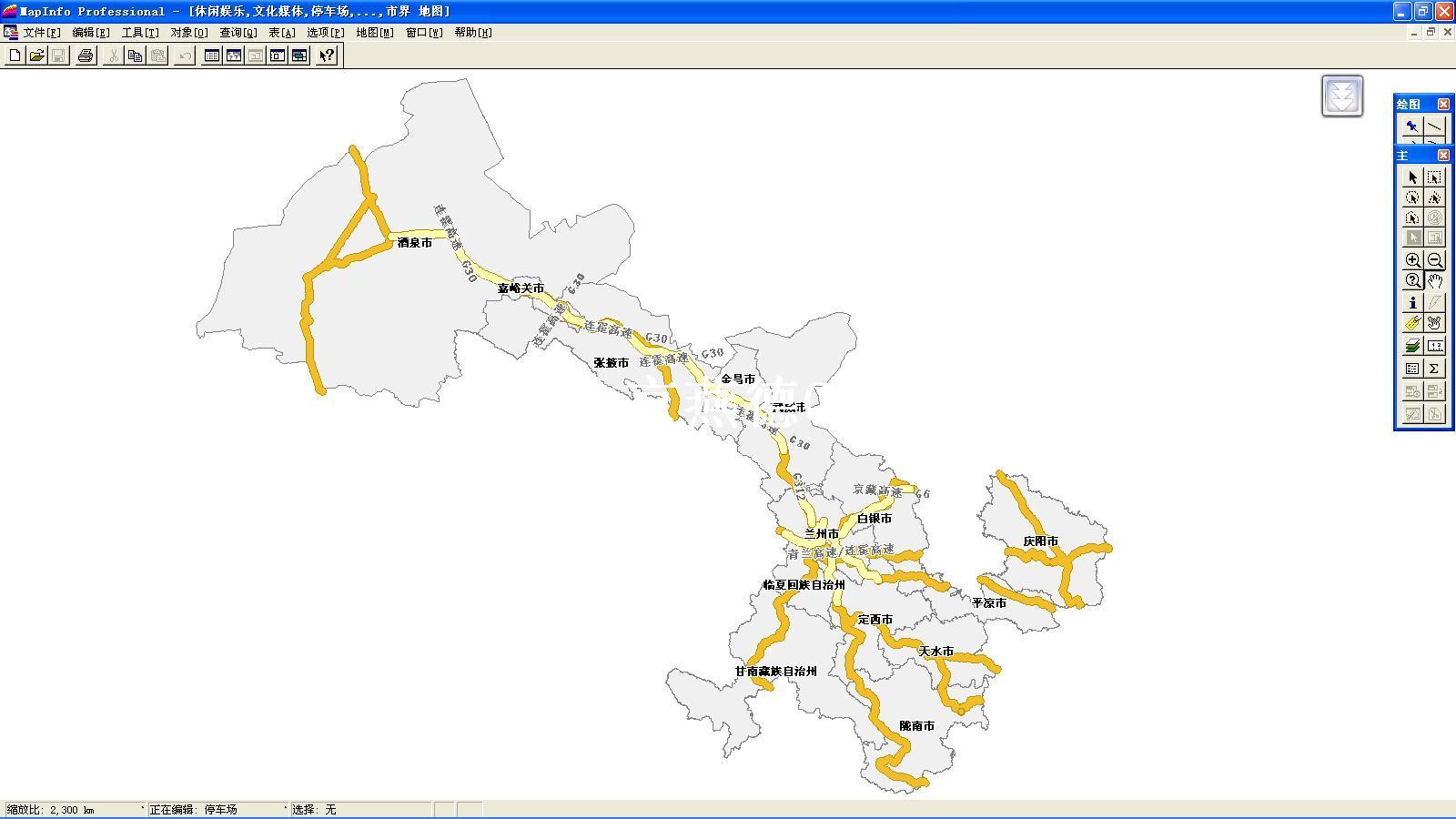 甘肃省经纬度地图