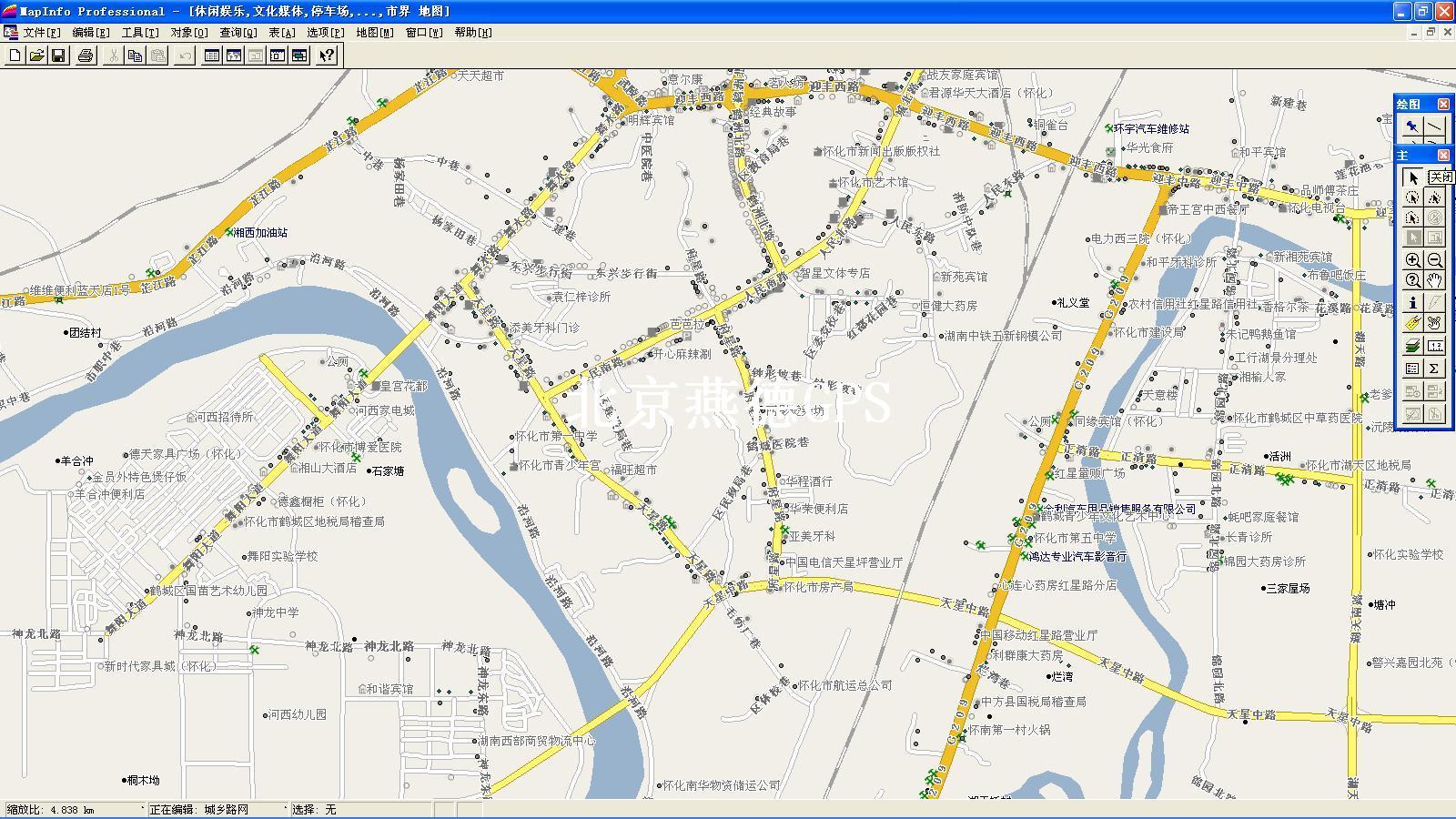 中国怀化地图全图