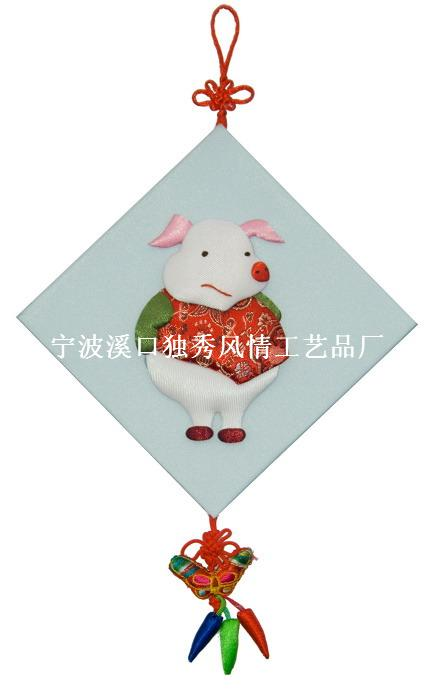 十二生肖布贴画 产品展示 布贴画,布艺画,儿童演出服装,许愿