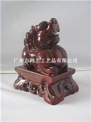 红木树脂工艺品 貔貅风水招财摆件