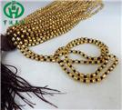 黃金色玉珠咖啡線掛繩