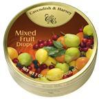 德国嘉云糖热带水果味铁盒装200g酸甜水果喜糖果零食