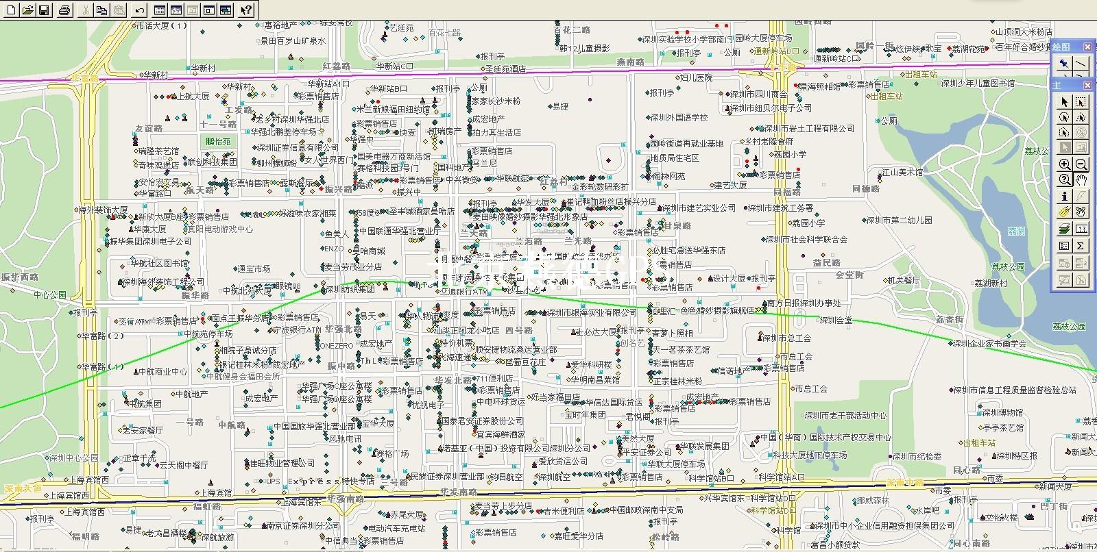 2013年深圳市电子地图