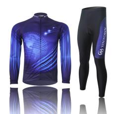 XINTOWN数码骑行服长袖套装 自行车服 春秋季吸湿排汗速干衣