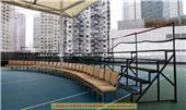 上海合影架租賃大合影集體照臺階出租多層孤行不銹鋼站架