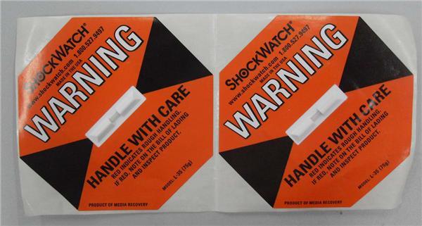 震动指示标签SHOCKWATCH(75g)