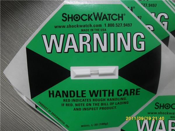 震动显示标签SHOCKWATCH(100g)