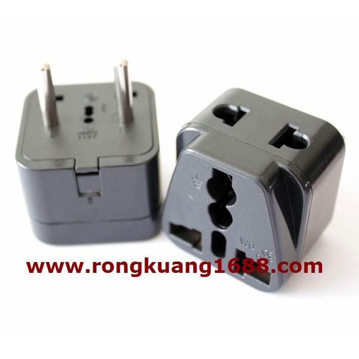 转换_wdi-9a 4.0mm 一转二欧插 欧式转换器 法国插头 韩国旅游插座