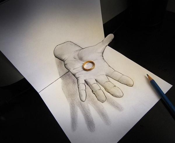简单画纸上3d立体画用哪种铅笔图片