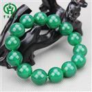 精品玛瑙14mm圆珠绿色手链