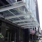 乙源兴钢化玻璃雨棚