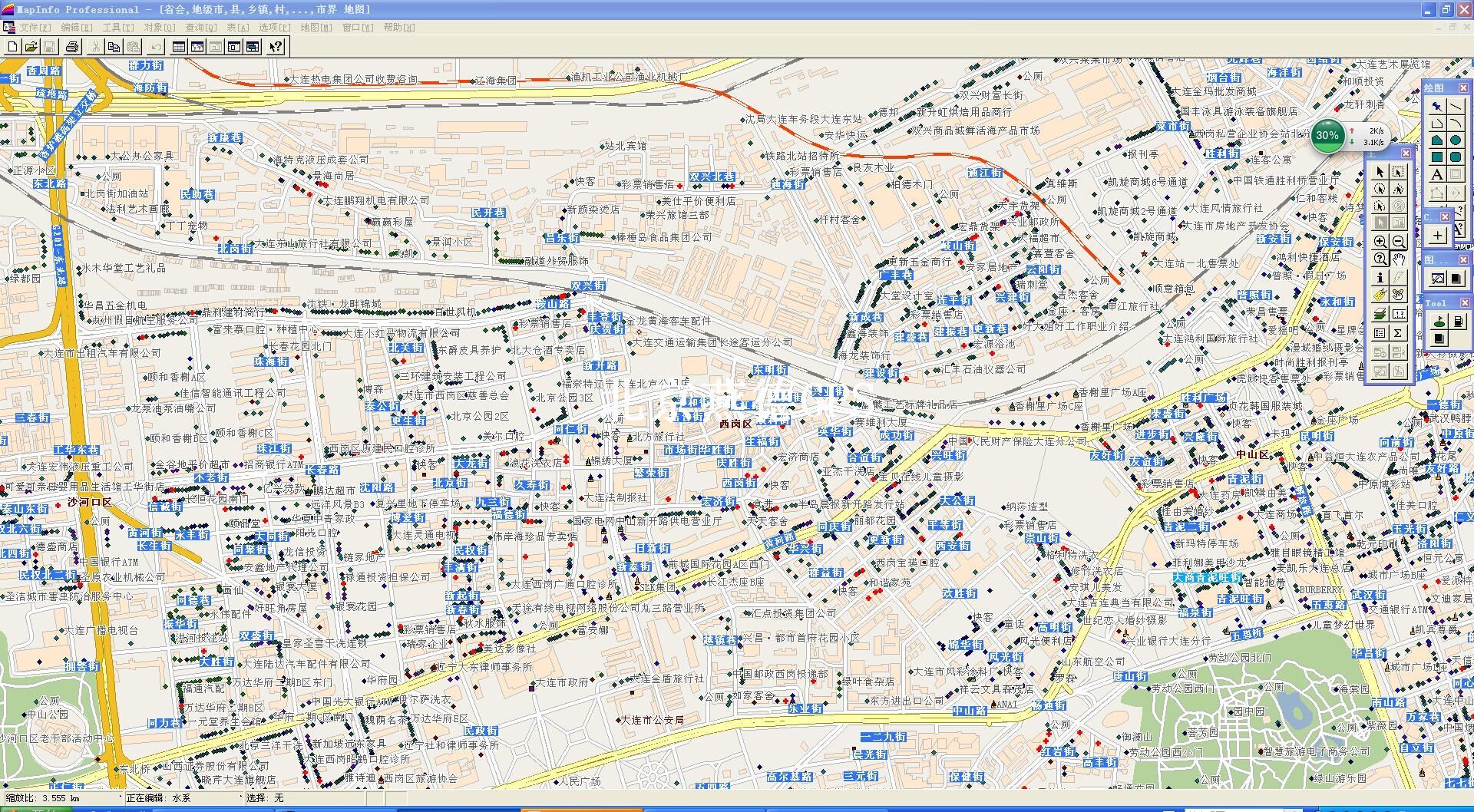 大连市2000比例尺地图