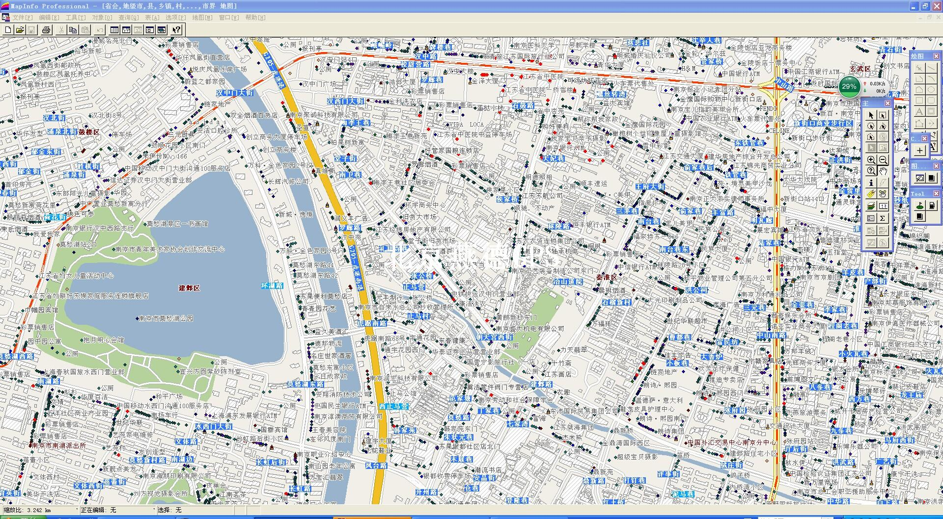 南京市2000比例尺电子地图