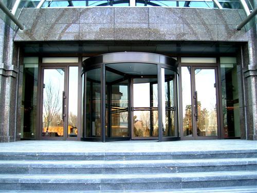 铜制玻璃旋转门