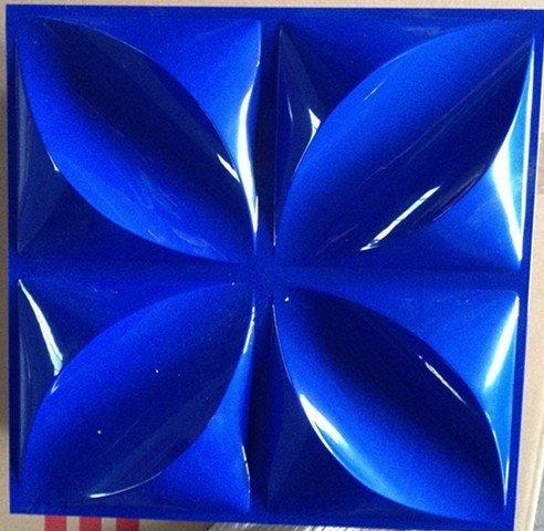 四叶花三维版深蓝色