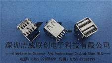 AF/USB双层17.0MM 四脚弯脚插板DIP/有卷边【挺立式】CAD-PSDF
