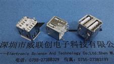 180度立式双层USB AF/两勾脚牢固=14.2H*盐雾测试48H