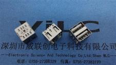 AF180度双层USB+短体10.5MM(白胶)直边/无脚牢固