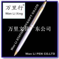 万里文具广东公司制笔厂专业生产水晶笔顶钻金属圆珠笔酒店定制广告logo