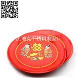 紅雙喜圓盤(Stainless steel Plate)ZD-YP18