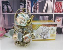 茶具电镀牡丹花礼品