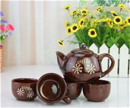 雪花咖啡茶具套装 陶瓷杯带铁架