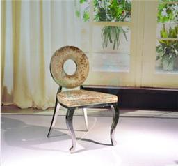 新古典家具后现代餐椅欧式酒店布艺单人椅