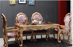 新古典餐桌 实木雕花 欧式饭桌