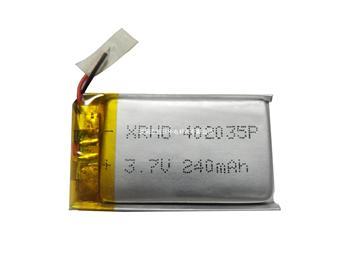 聚合物鋰離子電池402035 240mAh 3.7V