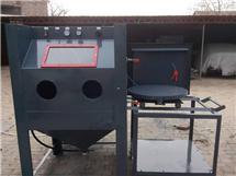 河北沧州转盘式箱式自动喷砂机