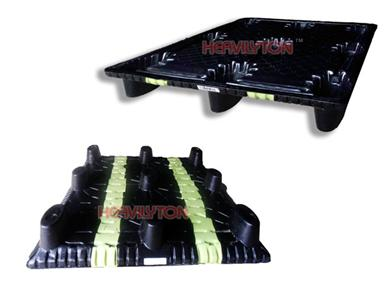 进口美国中空吹塑托盘-1210黑色加厚