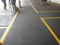 热熔划线,道路划线施工现场,中路达厂家划线