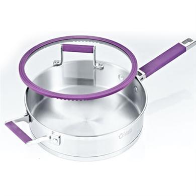 紫色无涂层不粘煎锅